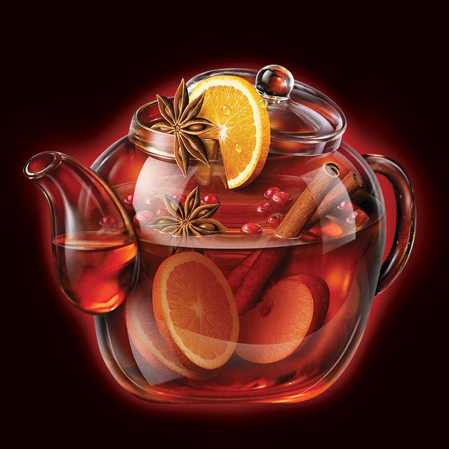 Teapot mulled wine.