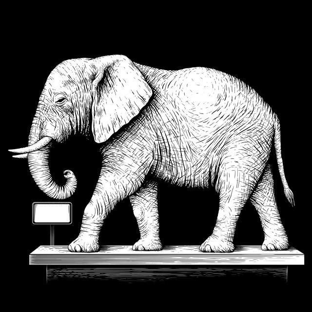 Elephant. Illustration for advertising.