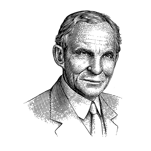 Henry Ford. Vector portrait.