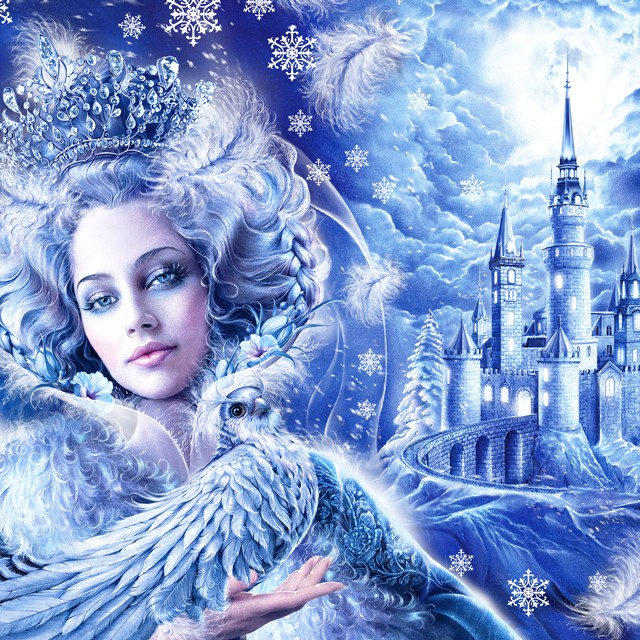 The Snow Queen. Christmas illustration.